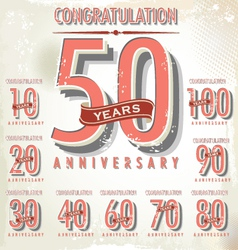 Anniversary sign collection vector image vector image