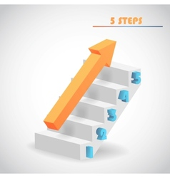 arrow and staircase vector image vector image