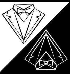 Black and white suits vector