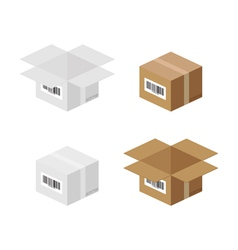 Box packaging vector image vector image