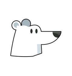 Cartoon cute polar bear wild artic vector