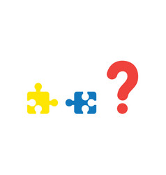 concept two pieces of puzzle that are vector image