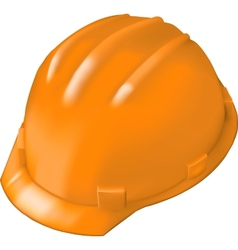 Construction hard hat on white vector image vector image