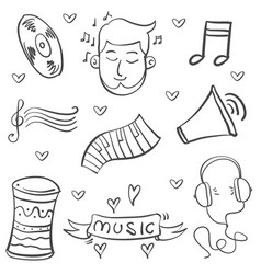 Doodle of music object art vector