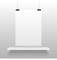 Empty shelves and clips on a string Eps 10 vector image