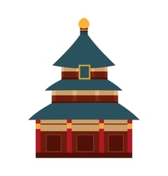 Indian temple with arch cartoon building vector image vector image
