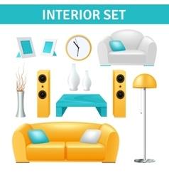 Interior Design Set vector image