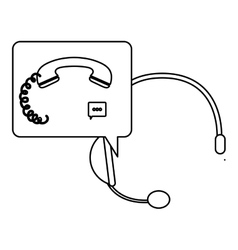Isolated phone of call center design vector