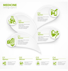 Medical green infographic vector