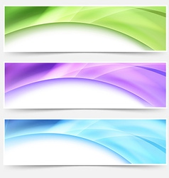 Modern web bright glowing header footer set vector
