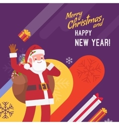 New Year and Christmas card template vector image vector image