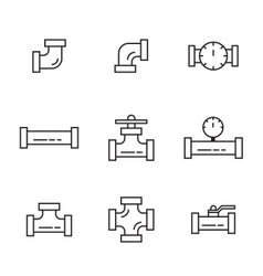 Pipes and fittings vector