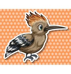 Rare bird vector image vector image