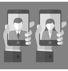 Selfie concept in grey vector image vector image