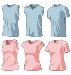 set of the casual wear vector image vector image
