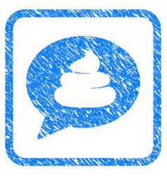 Shit idea balloon framed grunge icon vector