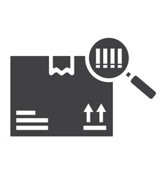 Tracking parcel glyph icon logistic and delivery vector