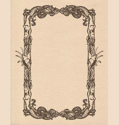 Vintage mermaids frame vector