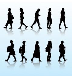 Walking women vector