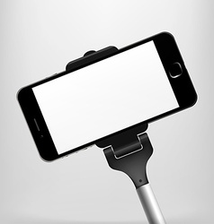 Monopods with phones attached for selfies vector