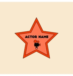 In flat style star with actor vector