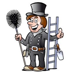 Happy chimney sweep vector