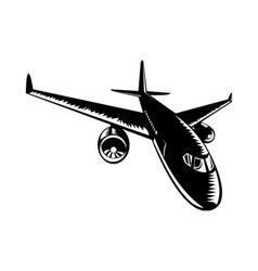 Commercial jet plane airliner vector
