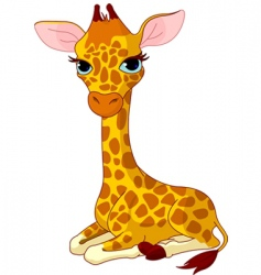Giraffe calf vector