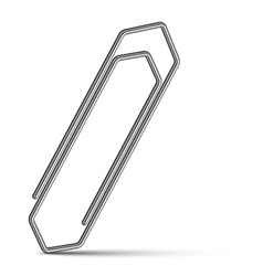 Chrome paperclip vector