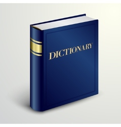 blue dictionary book vector image