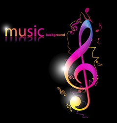 Stylish music design vector