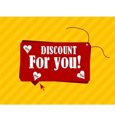 Discount for you label with text vector