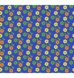 Seamless bright summer pattern with flowers vector