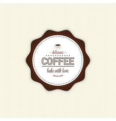 Delicious coffee label vector