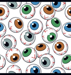 Eyeballs seamless background vector