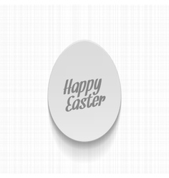 Easter realistic paper egg label with text vector