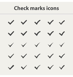 Tick icon set vector