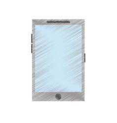 Blank screen modern cellphone icon image vector