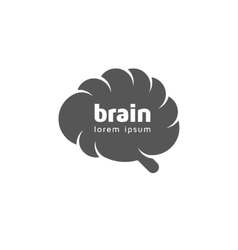 Brain logo template vector