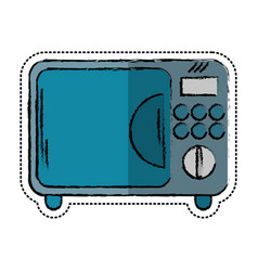 cartoon microwave electric appliance design vector image