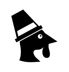 cartoon thanksgiving turkey bird wearing a vector image
