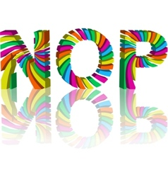 Colorful 3d alphabet vector
