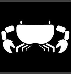 Crab the white color icon vector