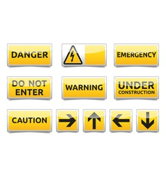 Danger warning sign set vector