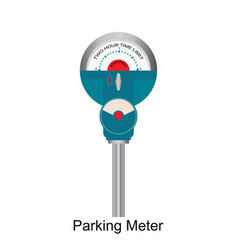 Expired retro parking meter vector