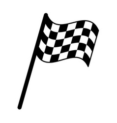 flag start racing pictogram vector image