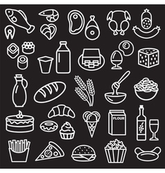 Food outline black vector