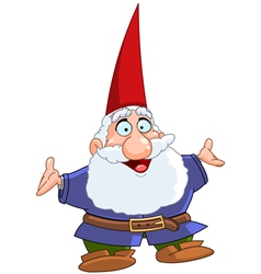 happy gnome vector image