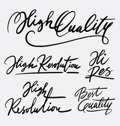 High quality and best quality hand written typogra vector