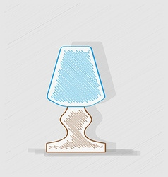 Lamp with blue lampshade vector